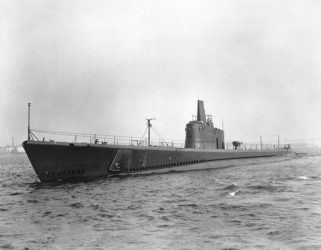 Image of the USS Amberjack (SS-219), representing vessels of the 20th century that contained components with asbestos and USS Amberjack personnel or workers who were likely exposed to the toxic substances and need assistance from the national asbestos lawyers at the Nemeroff Law Firm.