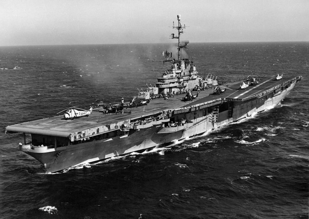 Image of the USS Antietam, representing the ship's commendable service but also the present-day concerns that service or work on the USS Antietam and asbestos exposure go hand in hand. Consult with national asbestos lawyers like those at Nemeroff Law Firm, who work to protect the legal rights of those impacted by asbestos.