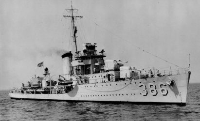 Image of the USS Bagley (DD-386), representing personnel who suffered asbestos exposure on the USS Bagley and how the mesothelioma lawyers at Nemeroff Law Firm can help protect their legal rights.